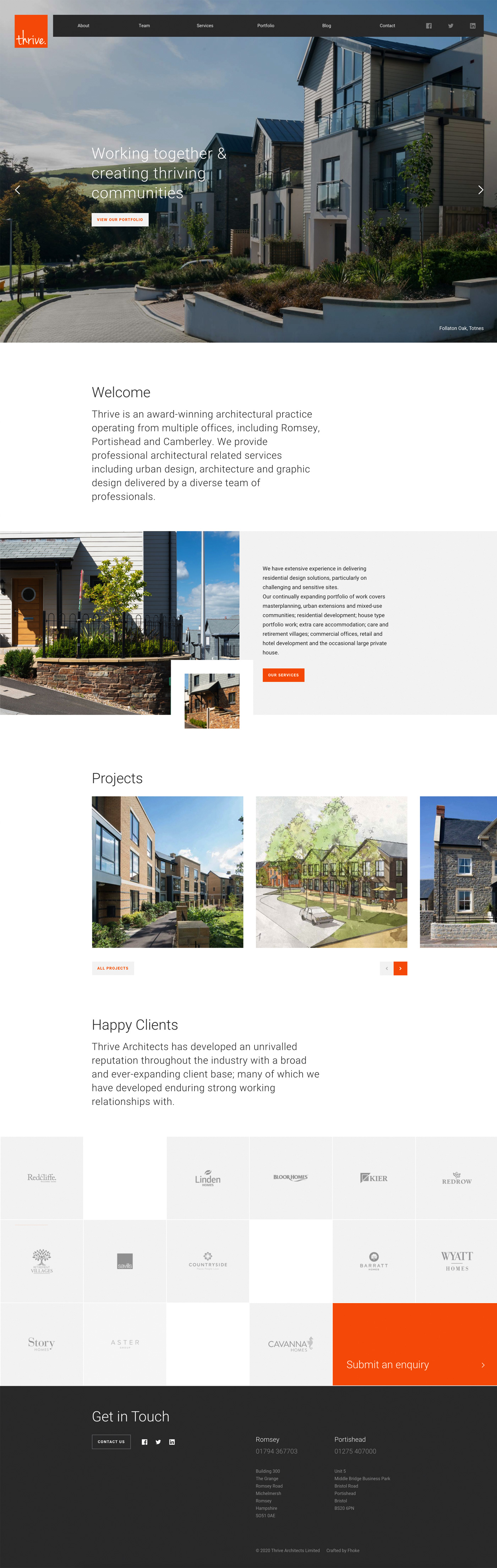 Fhoke Design Thrive Architects Website